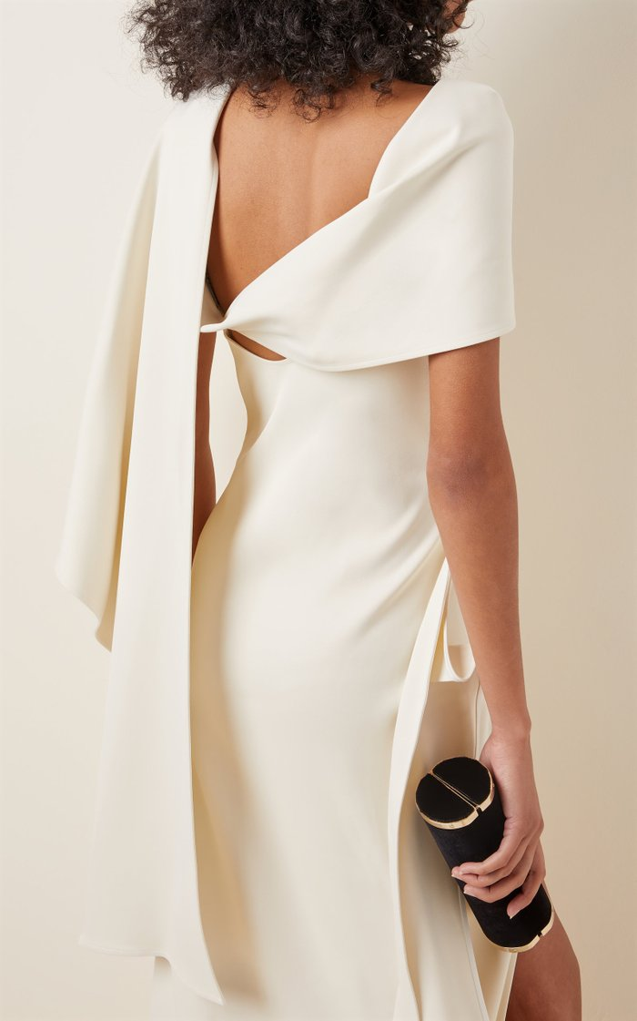 Eloquent Draped Crepe Gown