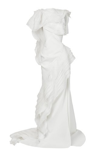 Serene Tiered Silk-Blend Gown