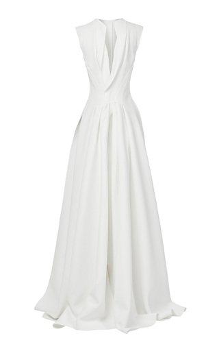 Poignant Crepe Gown
