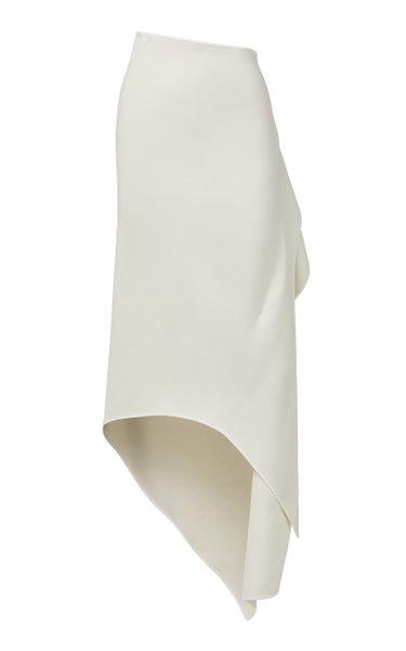 Undertaken Crepe Wrap Skirt