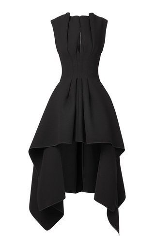 Inhibit Pleated Crepe Dress