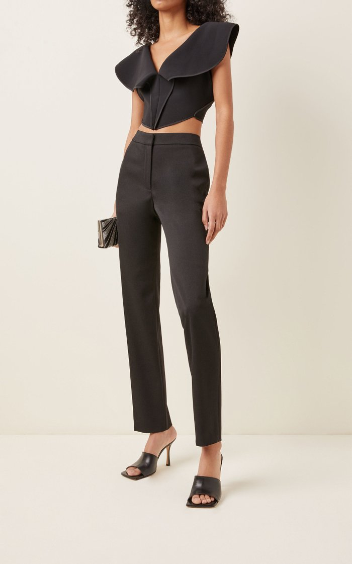 Clover Crepe Cropped Bodice