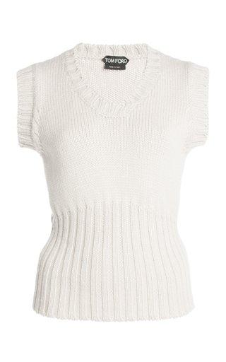 Sleeveless Wool Knit Top