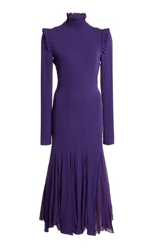 Mockneck Turtleneck Midi Dress