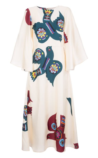 Sorella Printed Silk Dress