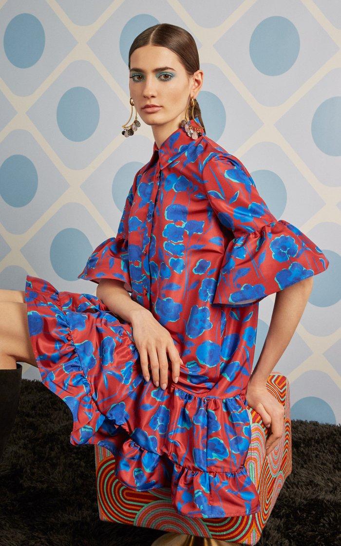 Choux Printed Poplin Dress