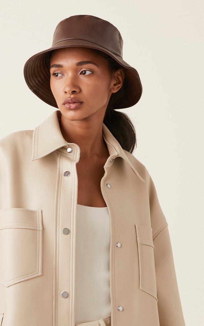 Lotti Faux Leather Bucket Hat