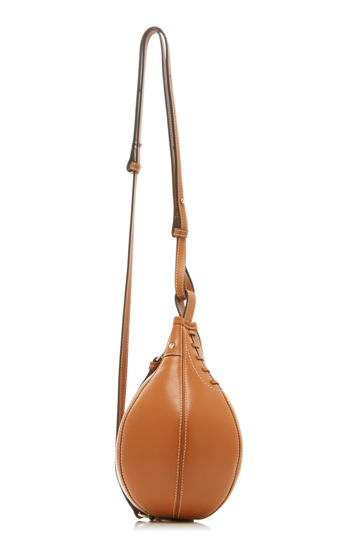 Small Punch Leather Crossbody Bag