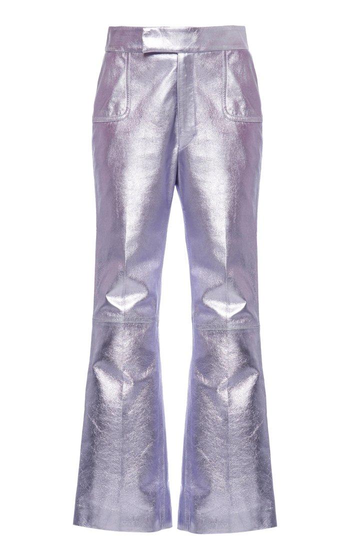 Cropped Metallic Pants