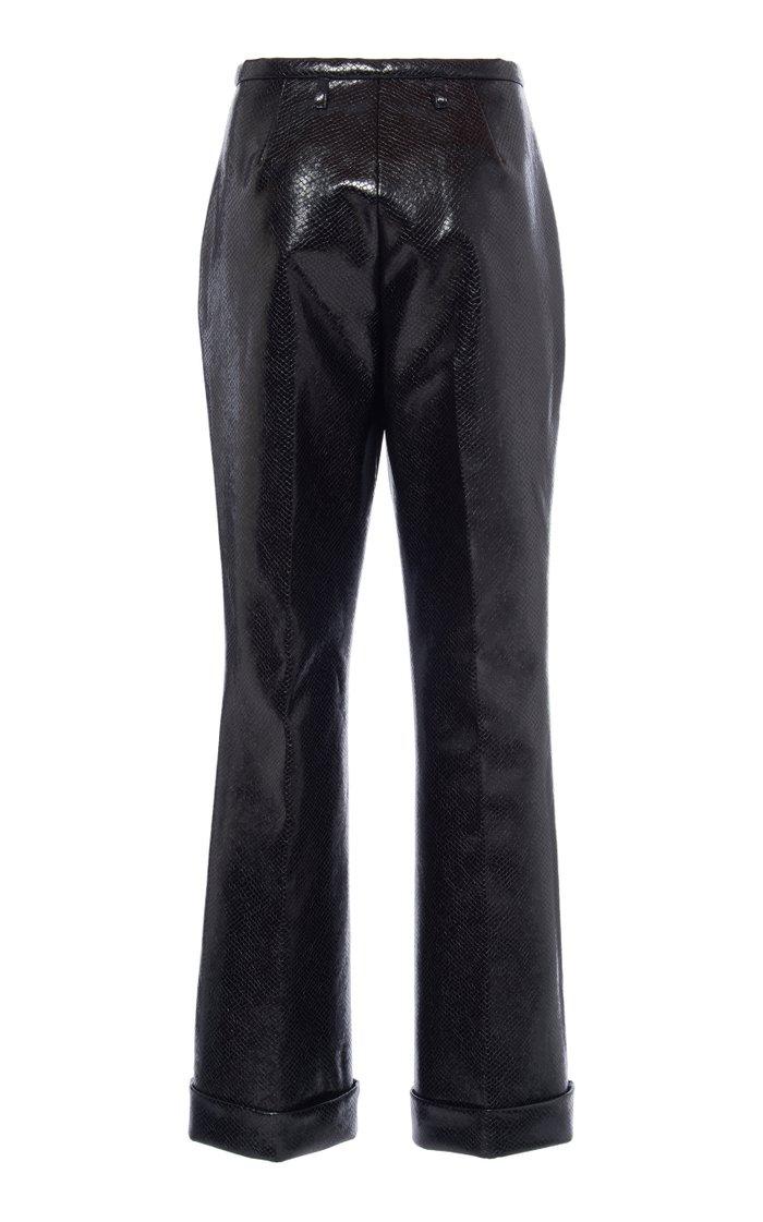 Python-Effect Vegan Leather Pants