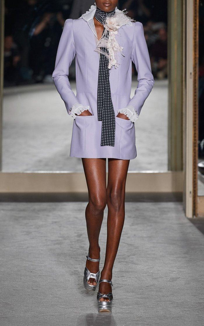 Wool-Blend Mini Dress