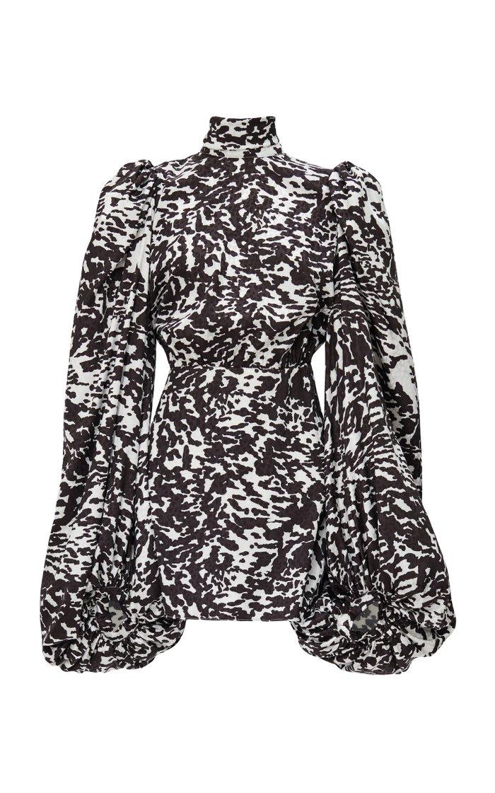 Animal-Print Jacquard Mini dress
