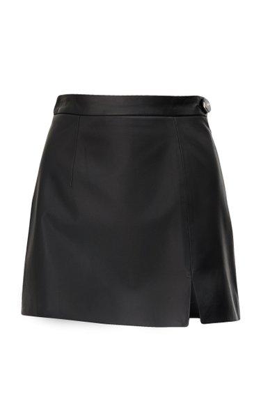Soft Leather Mini Skirt