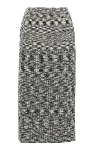 Space-Dyed Wool Midi Skirt