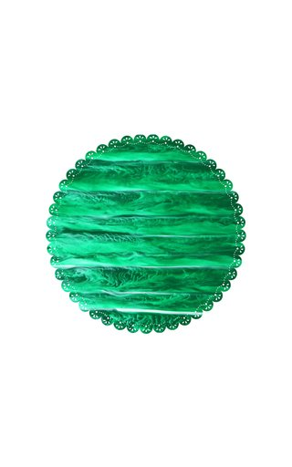 Scallop-Trimmed Marbled-Acrylic Charger Plate