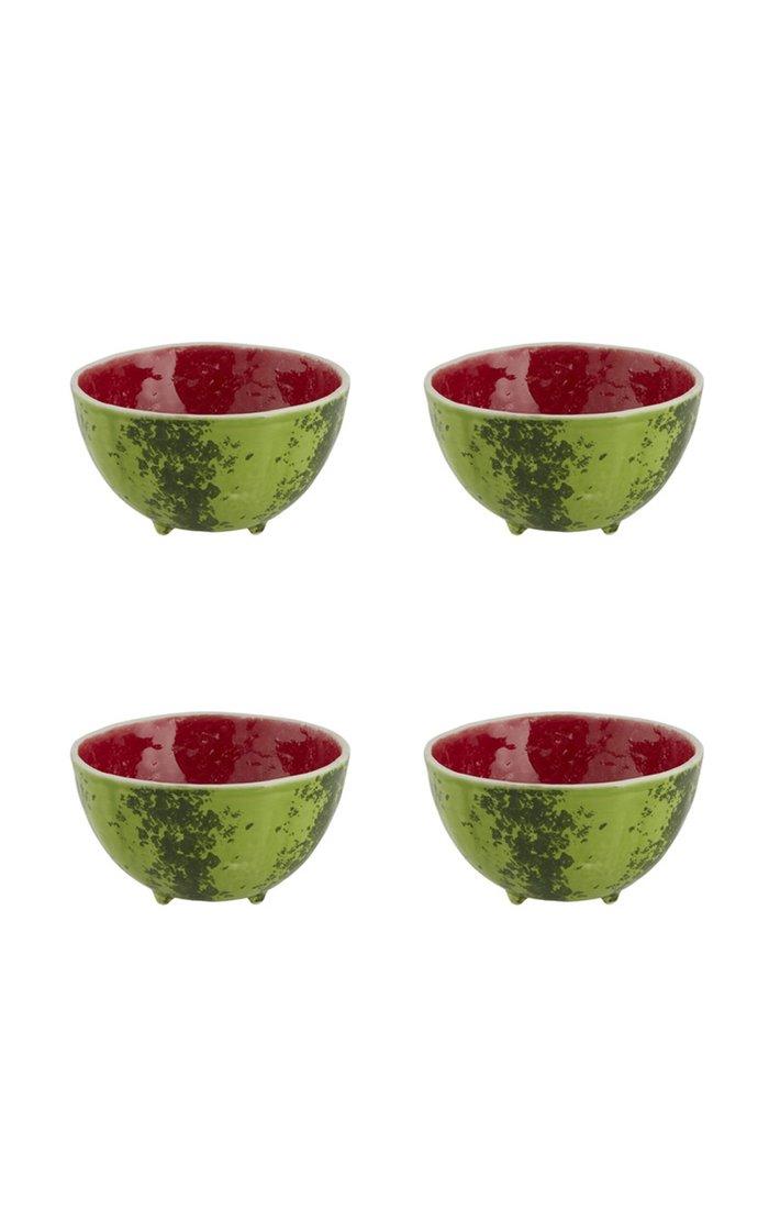 Set-Of-Four Watermelon Bowls