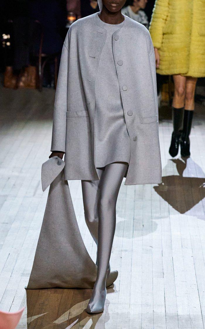 Wool-Blend Shift Mini Dress
