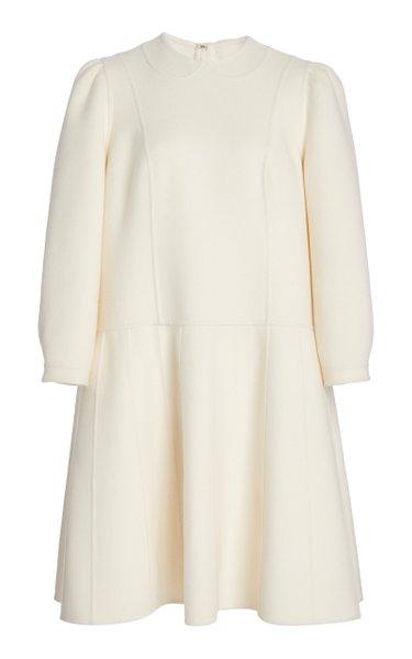 Trompe L'oeil Wool Dress
