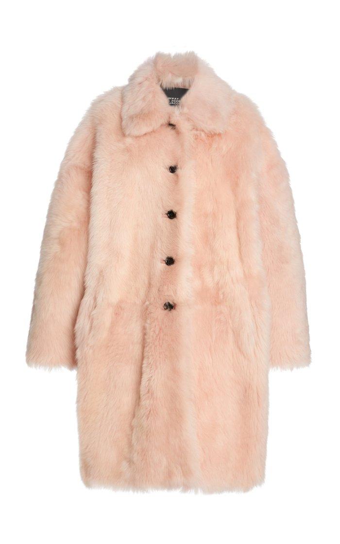 Shearling Balmacaan Coat