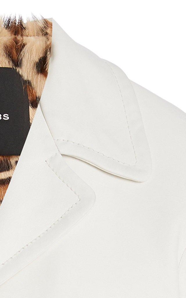 Boxy Notched Leather Jacket