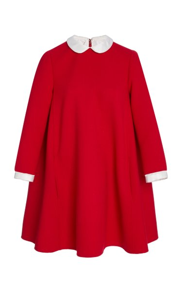 Double Face Wool-Blend Swing Dress