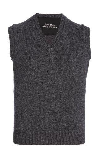 Mélange Cashmere Sweater Vest