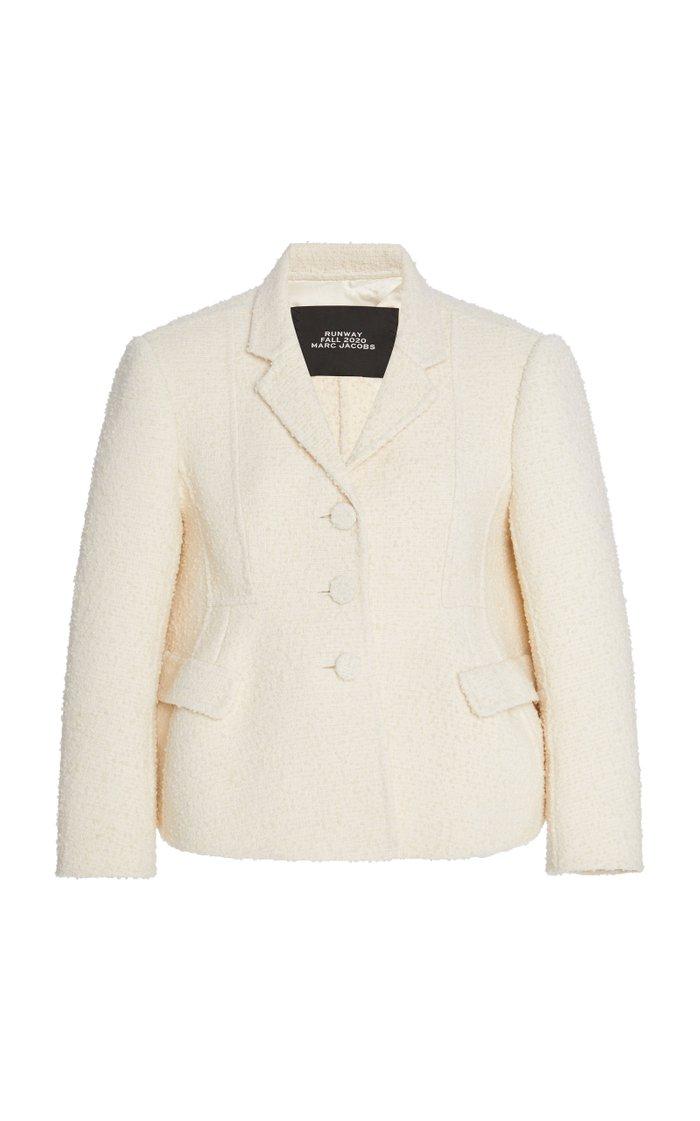 Notched Wool-Boucle Jacket