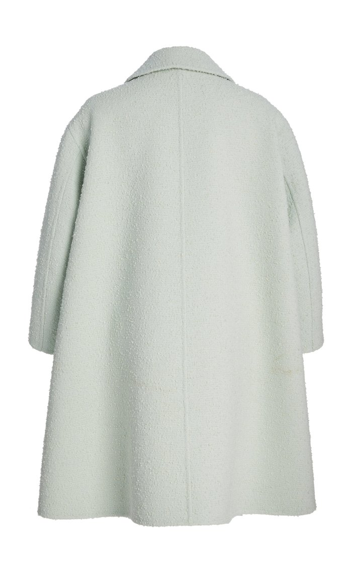 Boucle Flared Coat