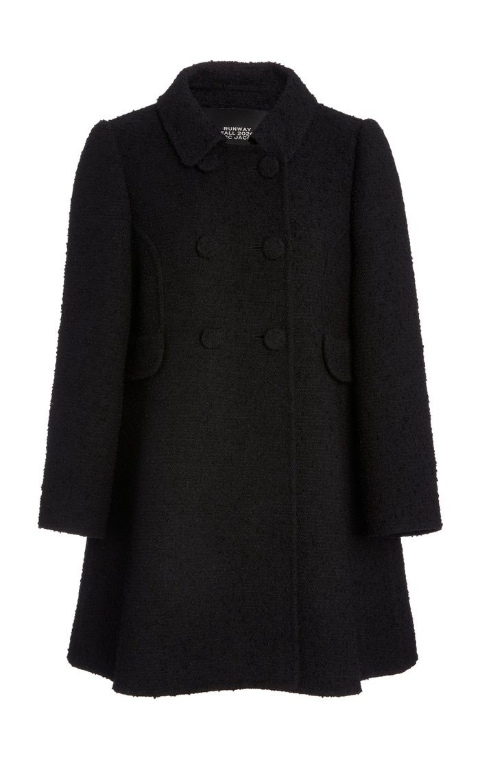 Double-Breasted Wool-Blend Collared Peacoat