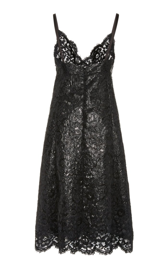 Lacquered Lace Slip Dress