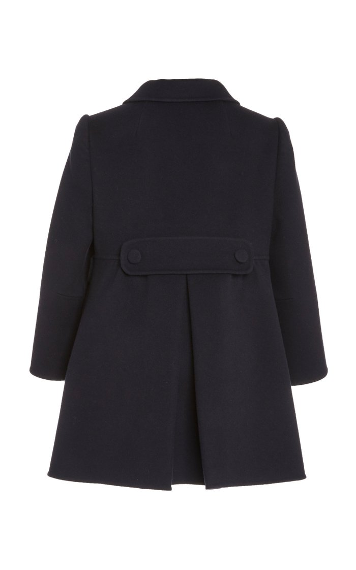 Double-Breasted Wool-Blend Peacoat
