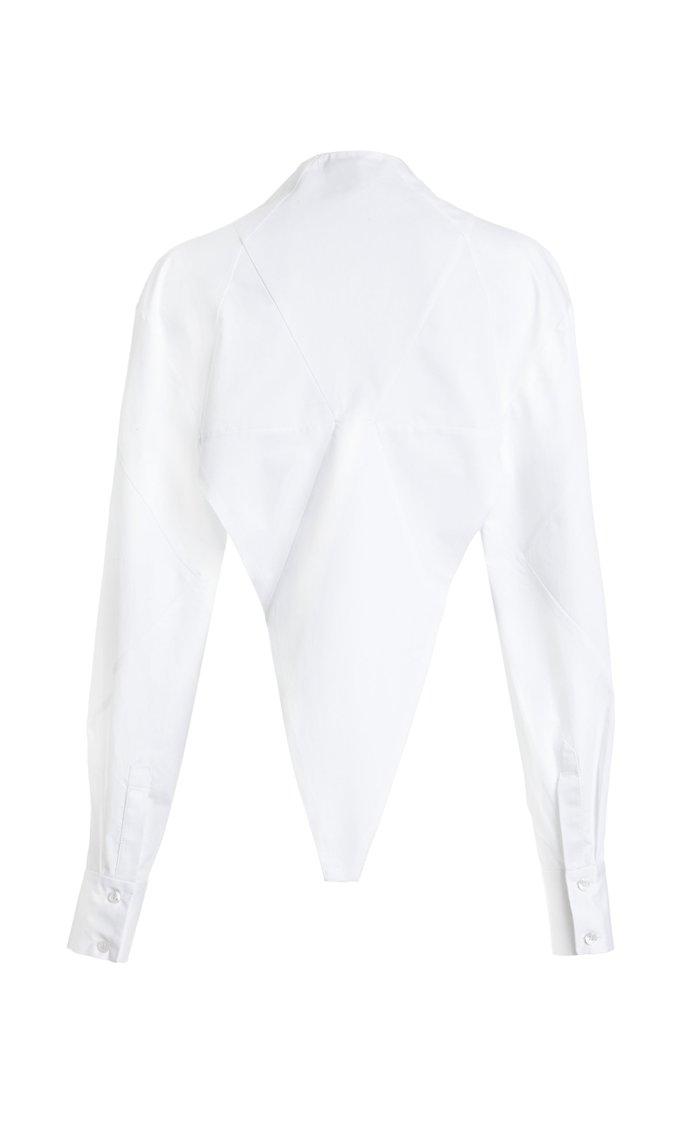 Triangle Cut Cotton Shirt