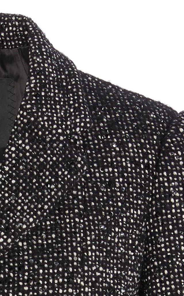 Strass-Embellished Tweed Jacket