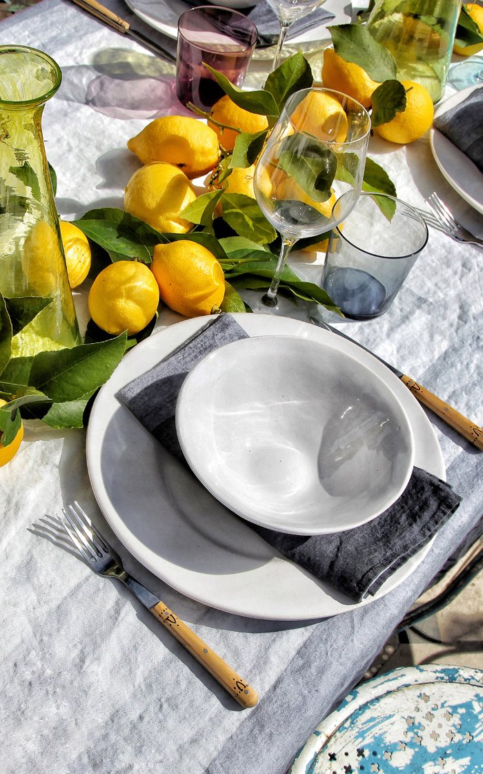 Shades Of Light Set-Of-Four Printed Linen Napkins