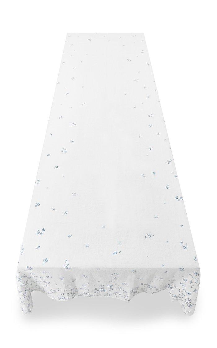 Bernadette's Falling Flower Printed Linen Tablecloth