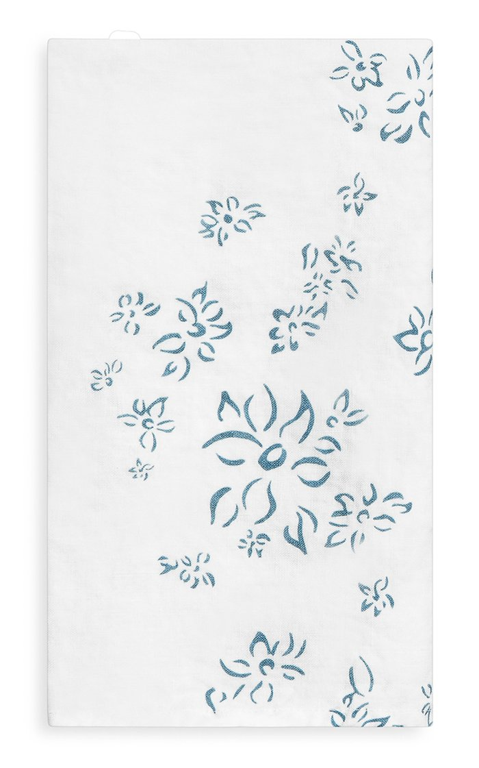 Bernadette's Falling Flower Set-Of-Four Printed Linen Napkins
