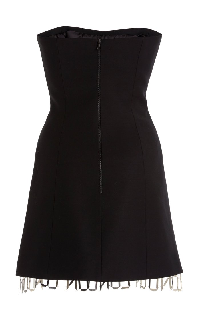London-Trim Wool Mini Dress