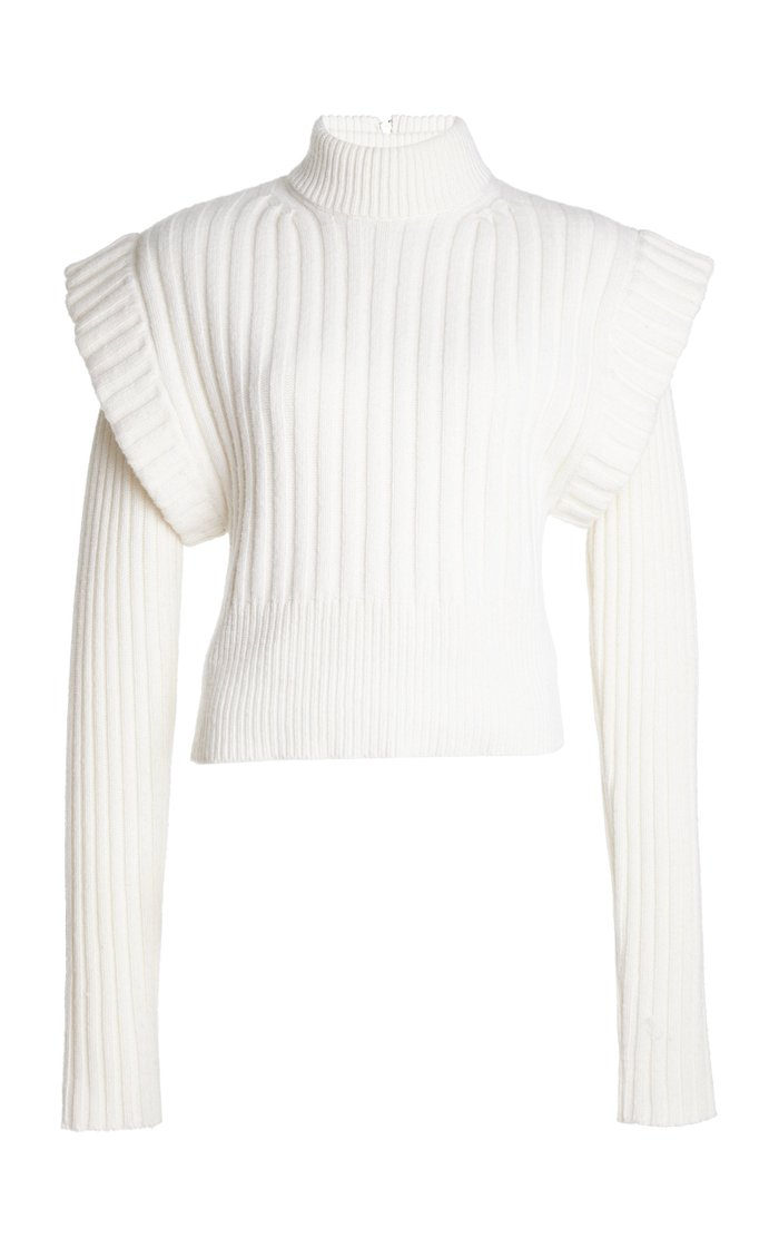 Oversized Tiered Wool Sweater