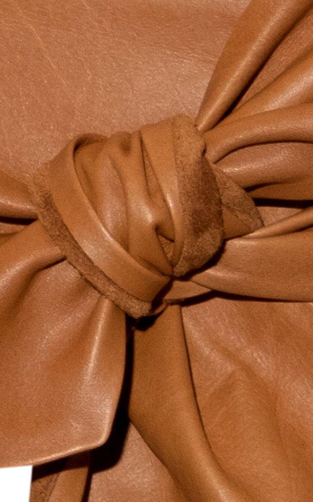 Tie-Front Fior Leather Belt
