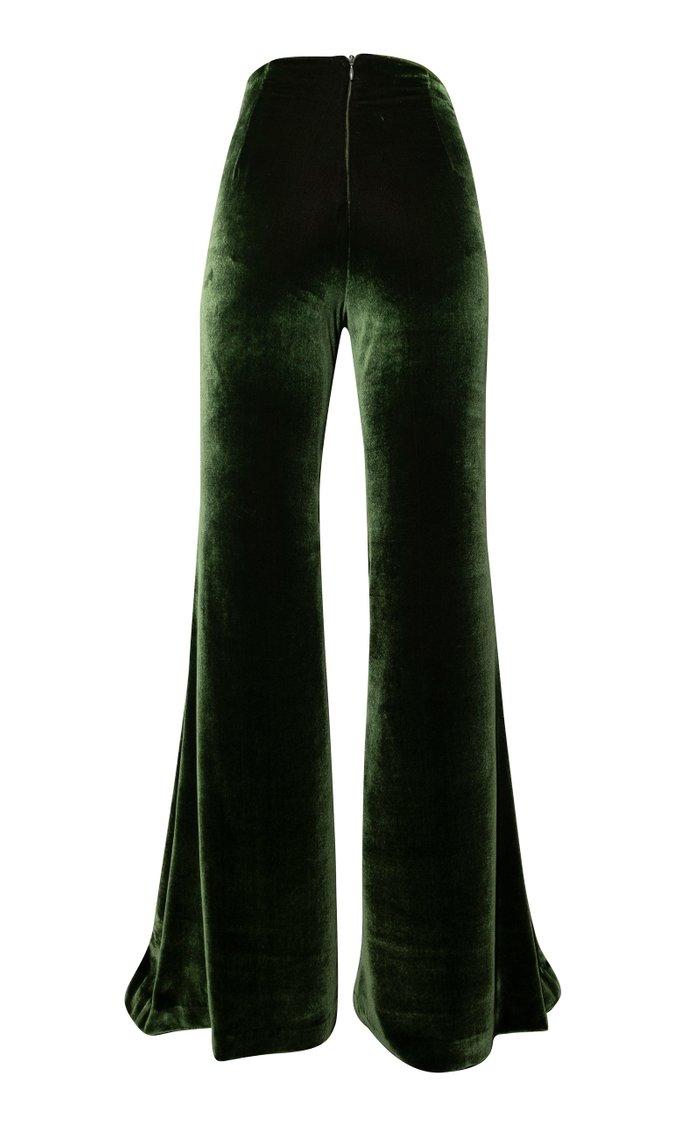 Caza Flared Velvet Pants