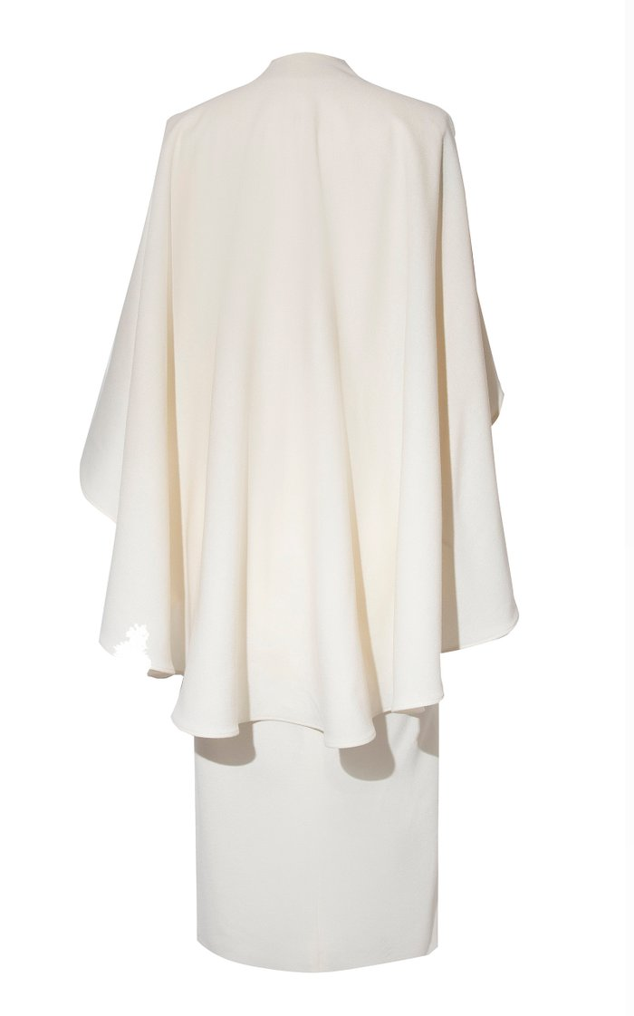Los Andes Cape-Effect Wool Dress