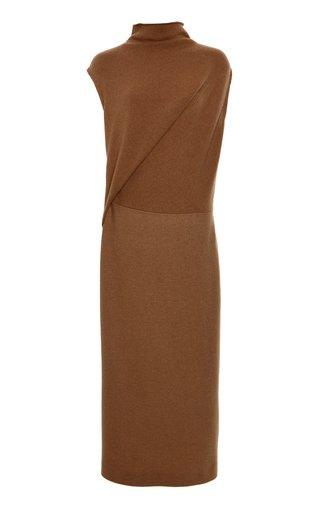 Draped Wool-Cashmere Midi Dress
