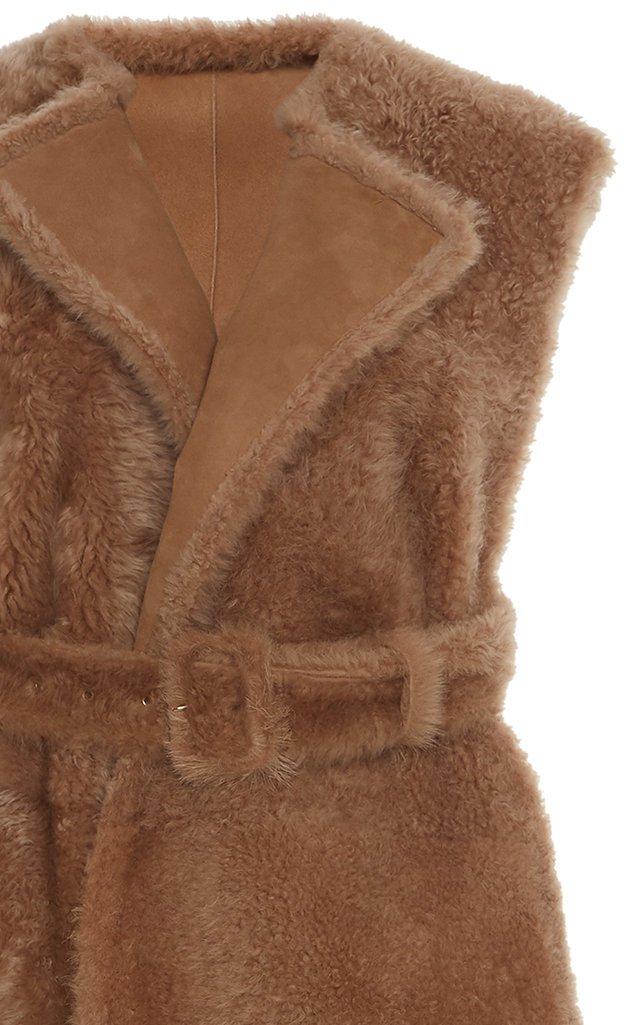 Belted Shearling Vest
