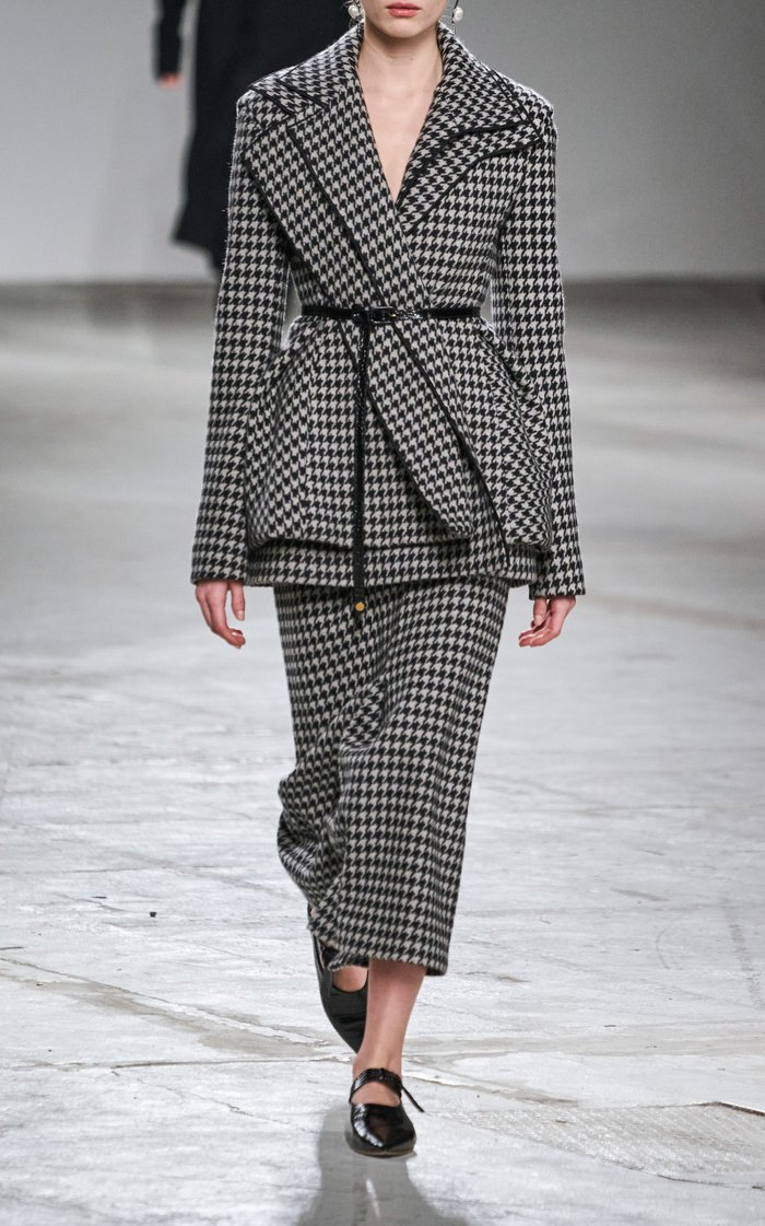 Asymmetric Wool-Cashmere Blazer
