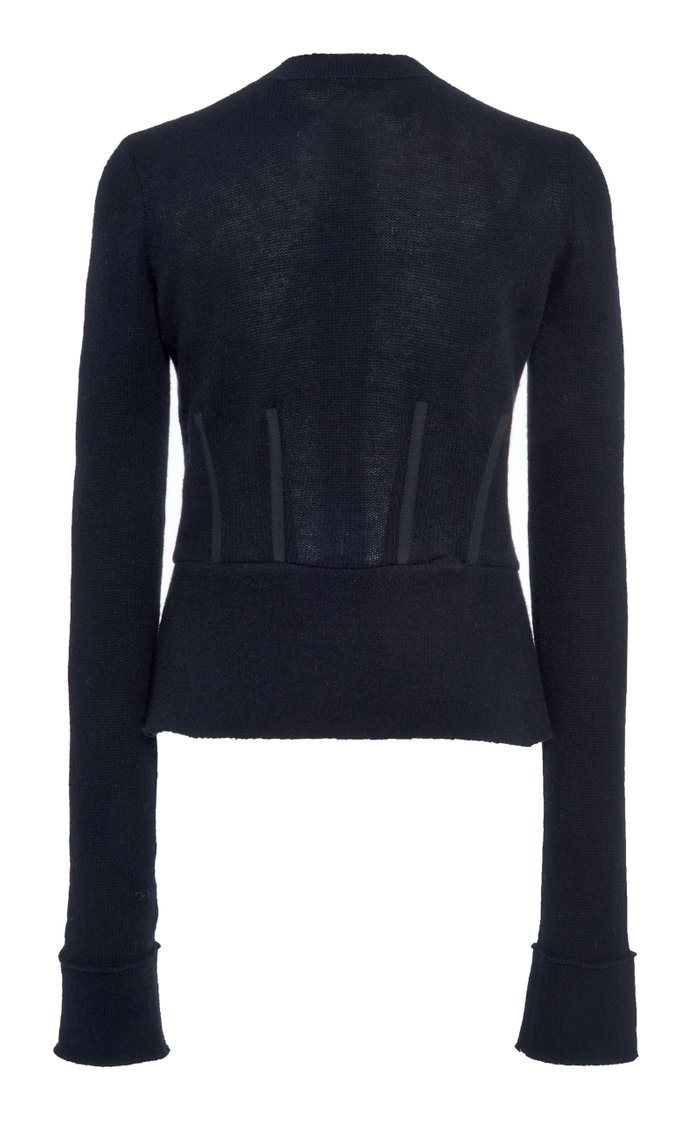 Wool-Cashmere Cardigan Sweater
