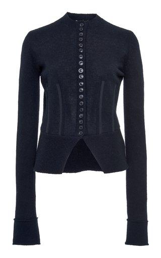 Wool-Cashmere Cardigan Sweater