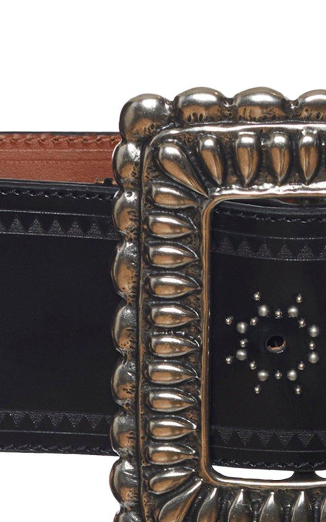 Embellished Leather Belt
