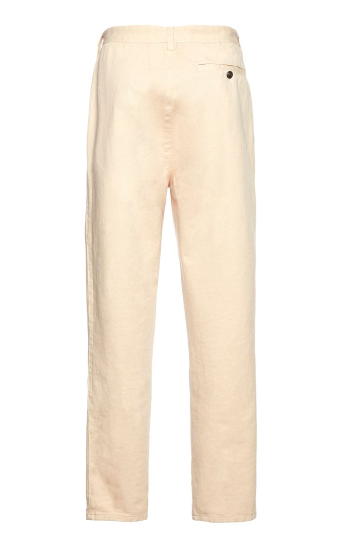 Asymmetric Cotton-Twill Tapered Pants