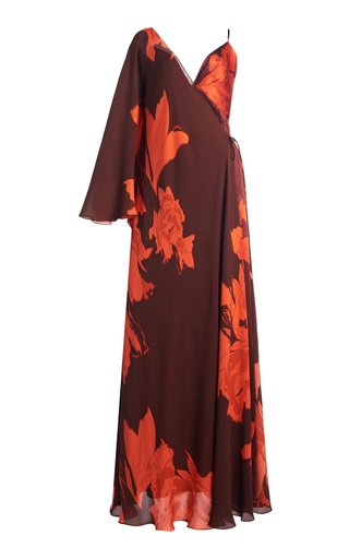 Cartas Olvidadas Convertible Floral Silk Maxi Dress