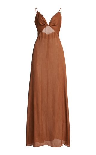 Inner Growth Convertible Textured Crepe Maxi Dress